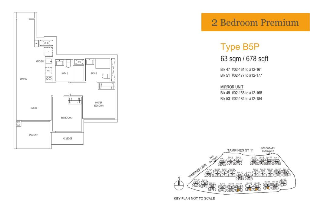 Treasure At Tampines 2 bedroom premium