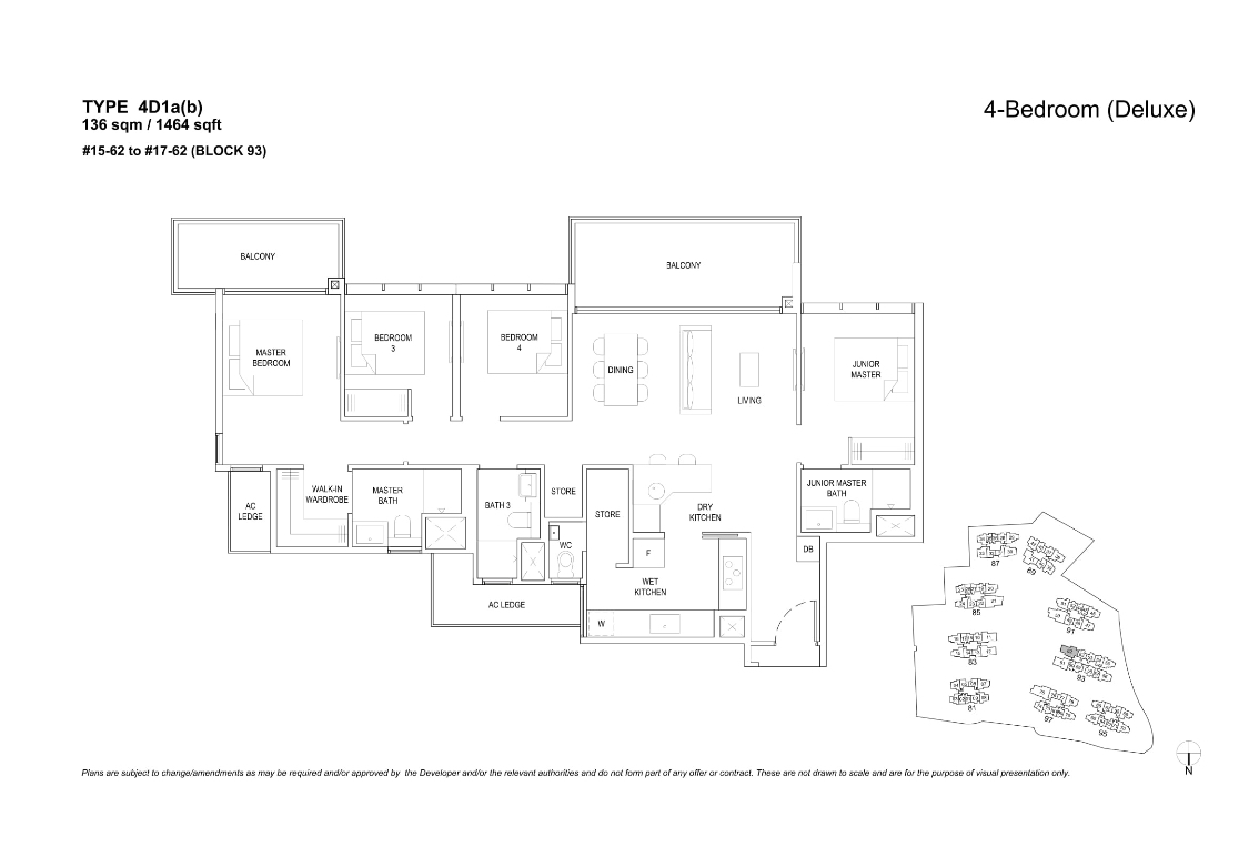 The Florences Residences 4 bedroom Floor plan